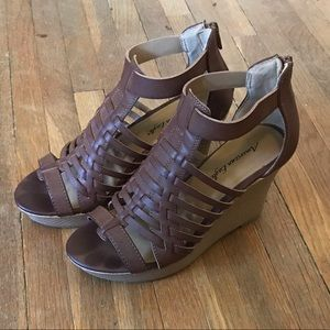 American Eagle Faux Leather Wedges